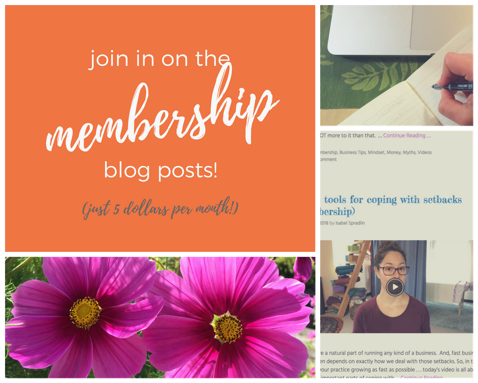 your massage practice membership posts